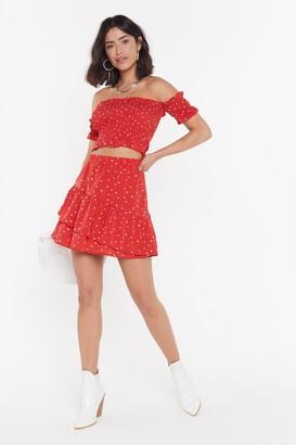 Nasty Gal Womens Heartbreaker Ruffle Mini Skirt - black - S