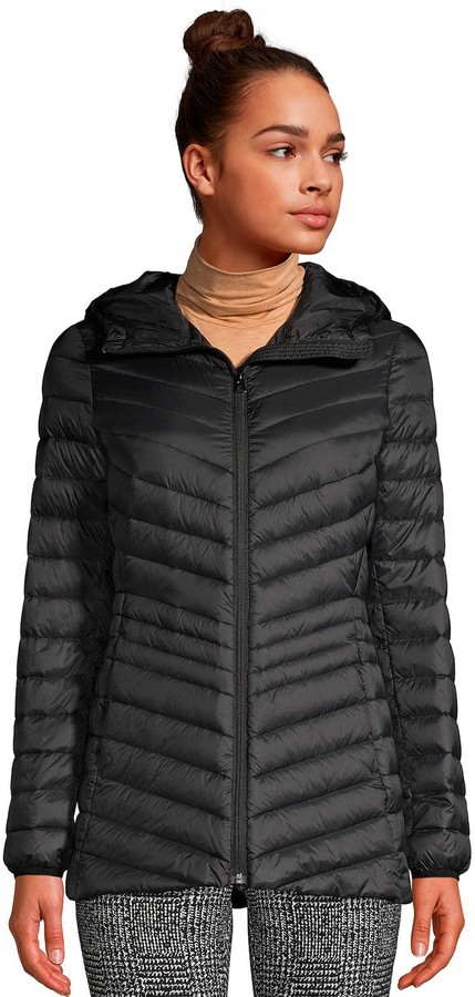 Lands' End Petite Ultralight Hooded Packable Down Jacket