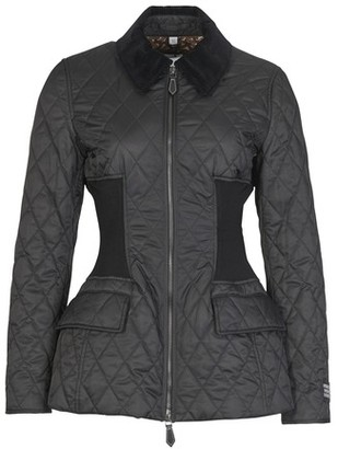 Burberry Rib Knit Panel Diamond Quilted Barn Jacket