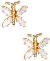 Candela 14K Yellow Gold CZ Butterfly Earrings