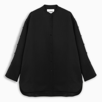 Jil Sander Black shirt with buttons detail
