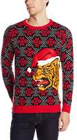 Blizzard Bay Men's Aggressive Tiger Ugly Christmas Sweater