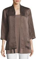 Eileen Fisher Organic-Linen/Silk Satin Jacket, Petite