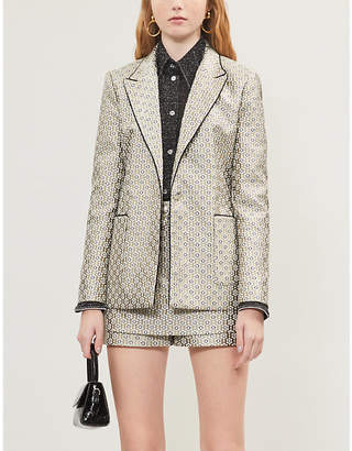Maje Metallic jacquard blazer