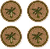 Joanna Buchanan Palm Tree Coasters, Set of 4