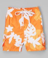 Kanu Surf Orange Voyage Swim Trunks - Infant Toddler & Boys