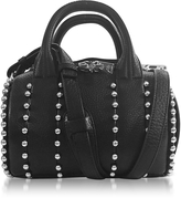 Alexander Wang Mini Rockie Ball Studd Black Leather Satchel