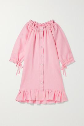 Sleeper Kids - Ages 2 - 15 Tie-detailed Ruffled Linen Dress
