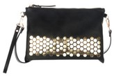 Celine Dion Symphony Faux Leather Clutch - Black