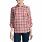 ST. JOHN'S BAY St. John's Bay 2-Pocket Classic Shirt - Tall