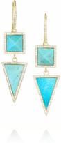 Jennifer Meyer 18-karat gold, turquoise and diamond earrings