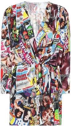 Balenciaga Printed stretch-jersey minidress
