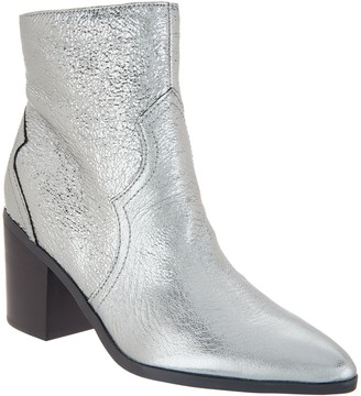Isaac Mizrahi Live! Leather or Suede Western Bootie