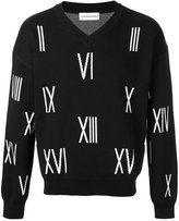 Gosha Rubchinskiy V-neck number sweater - men - Cotton - M