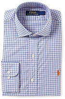 Polo Ralph Lauren Fitted Classic-Fit Spread-Collar Plaid Poplin Dress Shirt