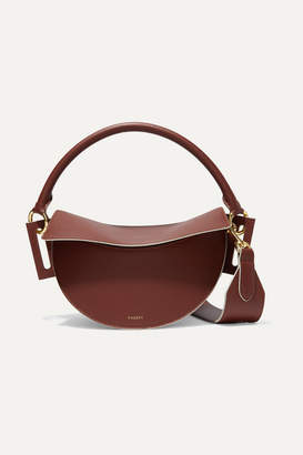 Yuzefi Dip Textured-leather Shoulder Bag - Brown
