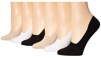 Sof Sole Nylon Neutral Footie 6-Pack (Assorted) Women's Crew Cut Socks Shoes