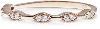 Bernard Delettrez Pink Gold Five Rhombs Ring w/ Diamonds
