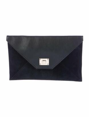 Jimmy Choo Rosetta Envelope Clutch Black