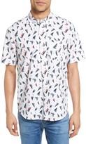 Tailor Vintage Men's Sailboat Seersucker Sport Shirt