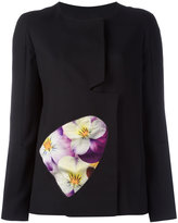 Christopher Kane split sleeve jacket - women - Nylon/Polyester/Viscose/Virgin Wool - 38
