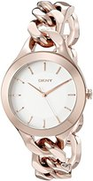 DKNY Women's NY2218 CHAMBERS Rose Gold-Tone Stainless Steel Watch