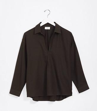 LOFT Lou & Grey Split Neck Shirt