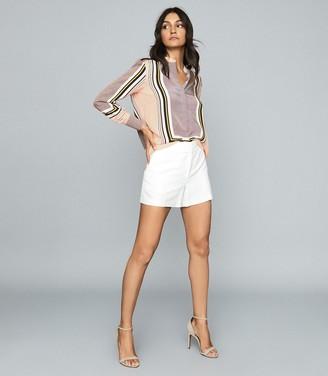 Reiss Sandy - Scarf-print Shirt in Pink
