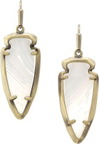 Kendra Scott Katelyn Earrings in White Banded Agate