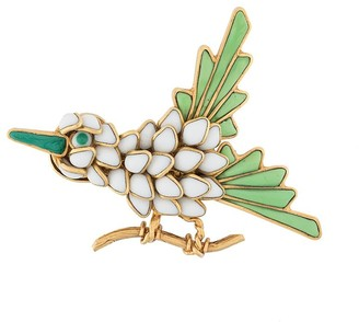 Chanel Pre Owned Embellished Bird Brooch