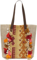 Ale By Alessandra Jaipur Linen Beach Tote Bag, Beige
