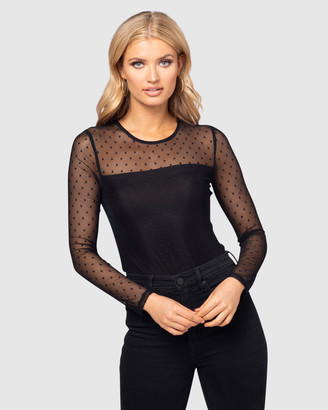 Pilgrim Women's Black Evening Tops - Bree Bodysuit - Size One Size, L at The Iconic