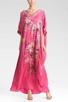 Josie Natori Couture Montones Caftan Lotus Pink
