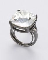 Gunmetal/Crystal Ring
