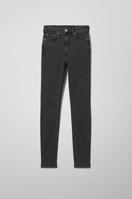 Weekday Body Extra High Skinny Jeans - Black