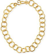 """Stephanie Kantis 24k Gold-Plated Bronze Classic Link Necklace, 18"""""""