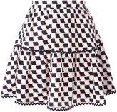 Kenzo Post-It mini skirt - women - Silk - 40