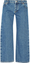 Balenciaga Rockabilly Cropped Low-rise Wide-leg Jeans - Light denim