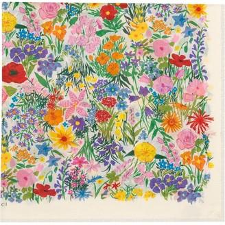 Gucci x Ken Scott floral-jacquard cotton shawl