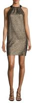 LK Bennett Thelda Metallic Bow Mini Dress