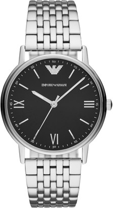 Emporio Armani AR11152 Men's Bracelet Strap Watch, Silver/Black