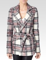 Paige Leona Coat - Rosette Plaid