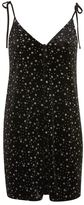 Topshop Star glitter slip dress