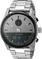 Nixon Men's A932131 Duo Analog-Digital Display Swiss Quartz Silver Watch