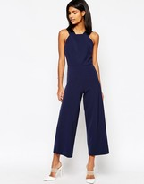 Asos Tailored High Neck Pinafore Jumpsuit