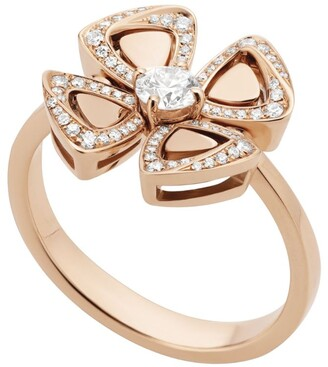 Bvlgari Rose Gold and Diamond Fiorever Ring