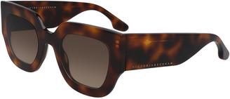 Victoria Beckham Flat Acetate Square Sunglasses