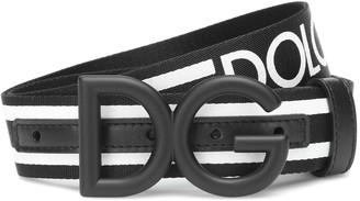 Dolce & Gabbana leather-trimmed belt