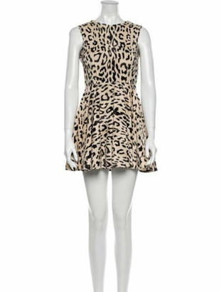 Dolce & Gabbana Animal Print Mini Dress