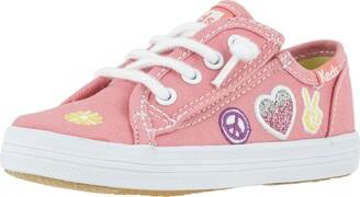 Keds girls Kickstart Pink Patch Jr Sneaker